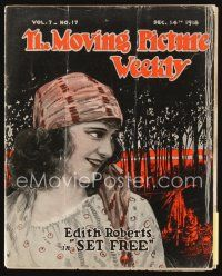 5m059 MOVING PICTURE WEEKLY exhibitor magazine Dec 14, 1918 two great Chaplin cartoons + his wife!