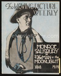 5m063 MOVING PICTURE WEEKLY exhibitor magazine July 26, 1919 Tad's Cat toon, Elmo Lincoln, Corbett