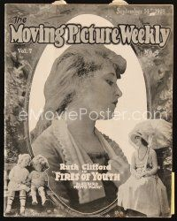 5m058 MOVING PICTURE WEEKLY exhibitor magazine Sep 14, 1918 great art for Weber's Scandal Mongers!