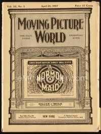 5m055 MOVING PICTURE WORLD exhibitor magazine April 21, 1917 Chaplin, Lloyd, Pickford, Arbuckle