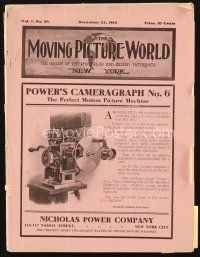 5m053 MOVING PICTURE WORLD exhibitor magazine December 24, 1910 incredible Mary Pickford pic & bio!