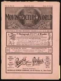 5m052 MOVING PICTURE WORLD exhibitor magazine March 12, 1910 Thanhouser opens, great Laemmle ad!