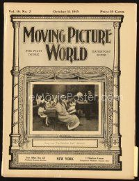 5m054 MOVING PICTURE WORLD exhibitor magazine Oct 11, 1913 Lily Langtry's only film, World Series!