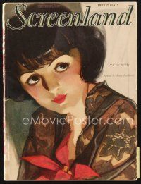 5m128 SCREENLAND magazine December 1927 art of Lya de Putti by Parkhurst, Louise Brooks article!