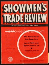 5m071 SHOWMEN'S TRADE REVIEW exhibitor magazine Sep 24 1955 White Christmas, Rebel Without a Cause