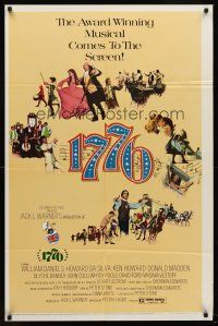 5p009 1776 1sh '72 William Daniels, the award winning historical musical comes to the screen!