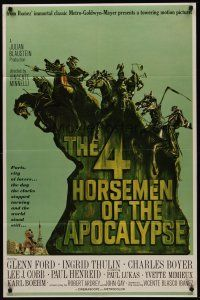 5p018 4 HORSEMEN OF THE APOCALYPSE style B 1sh '61 really cool different artwork by Joseph Smith!