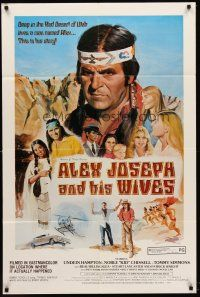5p043 ALEX JOSEPH & HIS WIVES 1sh '77 Ted V. Mikels, polygamy in Utah thriller!