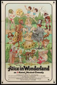 5p048 ALICE IN WONDERLAND 1sh '76 x-rated, sexy Playboy's cover girl Kristine De Bell!