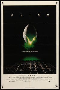 5p049 ALIEN 1sh '79 Ridley Scott outer space sci-fi classic, cool hatching egg image!