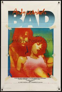 5p060 ANDY WARHOL'S BAD 1sh '77 Carroll Baker, Perry King, sexploitation black comedy!