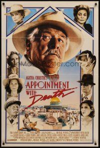 5p071 APPOINTMENT WITH DEATH 1sh '88 Agatha Christie, Carrie Fisher, Peter Ustinov!