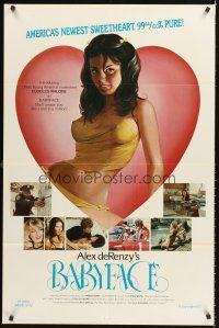 5p077 BABYFACE 1sh '77 classic Alex de Renzy, sexy art of America's newest sweetheart!