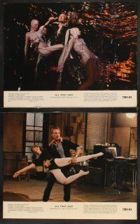 5r062 ALL THAT JAZZ 8 color 11x14 stills '79 Roy Scheider & Ann Reinking star in Bob Fosse musical!