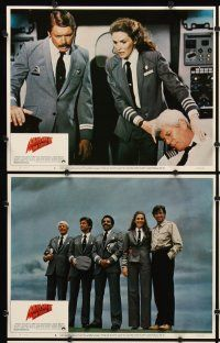 5r060 AIRPLANE II 8 LCs '82 Robert Hays, Julie Hagerty, Lloyd Bridges, William Shatner, Graves