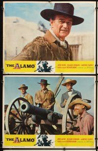 5r061 ALAMO 8 LCs R67 John Wayne & Richard Widmark in the War of Independence!