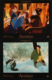 5r010 ANASTASIA 10 LCs '97 Don Bluth cartoon about the missing Russian princess!