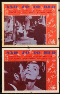 5r064 AND SO TO BED 8 LCs '65 Hildegarde Knef, Lilli Palmer, German sex!