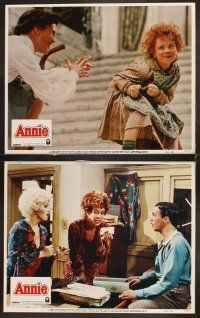 5r065 ANNIE 8 LCs '82 cute Aileen Quinn in the title role, Carol Burnett, Albert Finney!