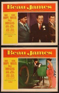 5r078 BEAU JAMES 8 LCs '57 great images of Bob Hope as New York City Mayor Jimmy Walker!