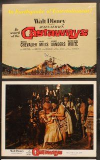 5r030 IN SEARCH OF THE CASTAWAYS 9 LCs '62 Maurice Chevalier, Hayley Mills, George Sanders