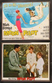 5r036 MOON PILOT 9 LCs '62 Disney, Tom Tryon, Brian Keith, Edmond O'Brien, Dany Saval