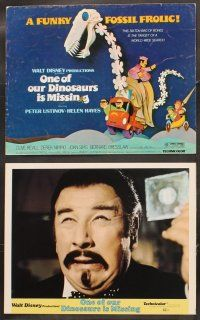 5r038 ONE OF OUR DINOSAURS IS MISSING 9 LCs '75 Walt Disney, Peter Ustinov, a funky fossil frolic!