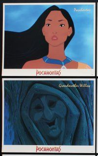 5r003 POCAHONTAS 16 LCs '95 Walt Disney, Native American Indian cartoon images!