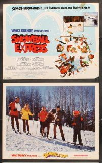 5r043 SNOWBALL EXPRESS 9 LCs '72 Walt Disney, Dean Jones, Nancy Olson, wacky winter fun!