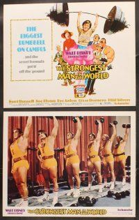 5r045 STRONGEST MAN IN THE WORLD 9 LCs '75 Walt Disney, teenage Kurt Russell, Phil Silvers!