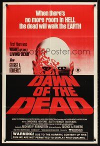 5y006 DAWN OF THE DEAD Aust 1sh '78 George Romero, there's no more room in HELL for the dead!