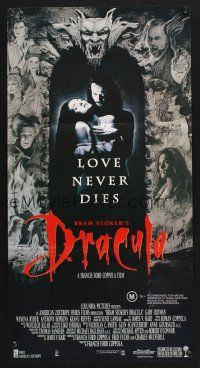 5y016 BRAM STOKER'S DRACULA Aust daybill '92 Francis Ford Coppola, Gary Oldman, cool vampire image