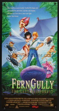 5y018 FERNGULLY Aust daybill '92 cool completely different rainforest cartoon image!