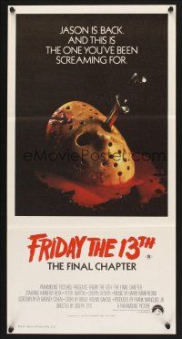 5y019 FRIDAY THE 13th - THE FINAL CHAPTER Aust daybill '84 Part IV, this is Jason's unlucky day!