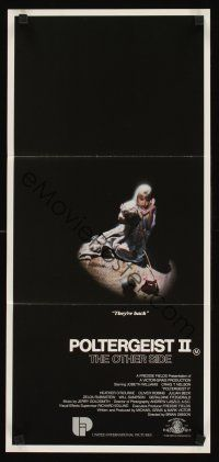5y033 POLTERGEIST II Aust daybill '86 Heather O'Rourke, The Other Side, they're baaaack!