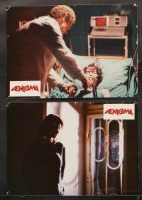5y063 AENIGMA 7 French LCs '88 wild Italian horror images, directed by Lucio Fulci!