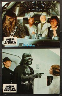 5y068 STAR WARS 24 French LCs '77 George Lucas classic sci-fi epic, great different images!