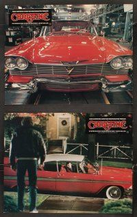 5y053 CHRISTINE 10 German LCs '83 Stephen King, John Carpenter, different creepy car images!