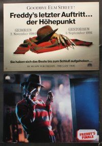 5y057 FREDDY'S DEAD 13 German LCs '91 different images of Robert Englund as Freddy Krueger!