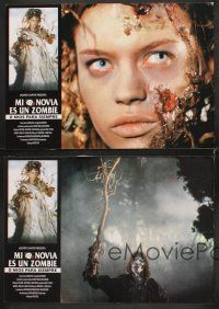 5y069 CEMETERY MAN 8 Spanish LCs '97 Rupert Everett, sexy Anna Falchi, wild horror images!