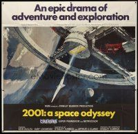 5z089 2001: A SPACE ODYSSEY Cinerama 6sh '68 Stanley Kubrick, art of space wheel by Bob McCall!