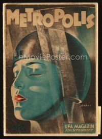 5z159 METROPOLIS German program '27 Fritz Lang classic, incredible content & art by Werner Graul!