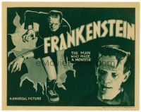 5z197 FRANKENSTEIN TC R38 different image of Boris Karloff as the monster full-length & close up!
