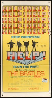 6a034 HELP 3sh '65 great images of The Beatles, John, Paul, George & Ringo, rock & roll classic!