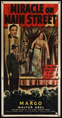 6a039 MIRACLE ON MAIN STREET 3sh '39 William Collier & Margo, who only knew the beast in men!