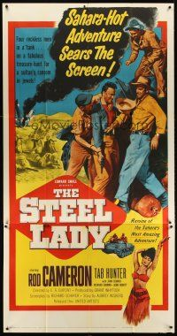 6a041 STEEL LADY 3sh '53 Rod Cameron is a fortune hunter in the Sahara Desert!