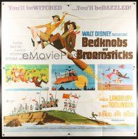 6a025 BEDKNOBS & BROOMSTICKS 6sh '71 Walt Disney, Angela Lansbury, great cartoon art!