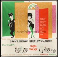 6a027 IRMA LA DOUCE 6sh '63 Billy Wilder, great art of Shirley MacLaine & Jack Lemmon!