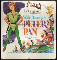 6a030 PETER PAN 6sh R69 Walt Disney animated cartoon fantasy classic, great full-length art!