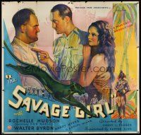 6a031 SAVAGE GIRL 6sh '32 sexy African jungle native Rochelle Hudson is wanted by two men!
